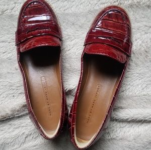 Red loafer flats 100%leathe by Marc Jacobs